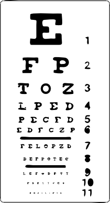 Optometrist optometry eye exam chart tavola esame ottico