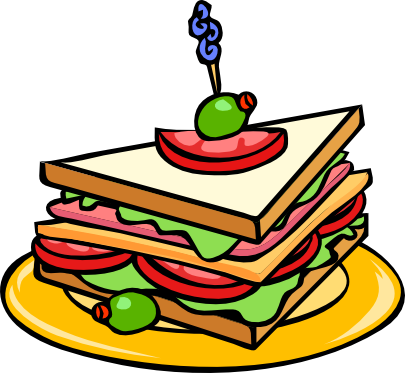 Club Sandwich bread olive