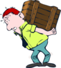 Carrying box moving heavy Traslocatore clip art