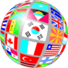 Globe flags world country countries clip art