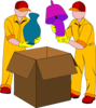 movers moving packing box shipping clip art
