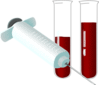 Injection needle blood syringe vials clip art