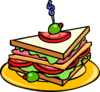 Club Sandwich bread olive clip art