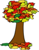 fall coloured tree geral 01 clip art