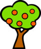 tree whit fruits 01 clip art