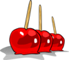 apple candy candied apples ganson clip art