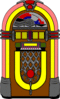 fifties jukebox gerald g 02 clip art