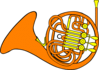 french horn ganson clip art