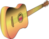 guitar profile philippe  01 clip art