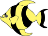fish striped tropical clip art