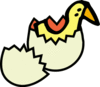 chick from egg clip art