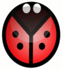 ladybug abstracted clip art