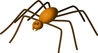 large brown spider clip art