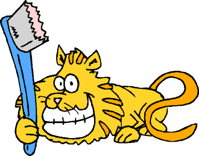 cat big grin toothbrush