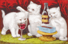 Three jolly kittens clip art