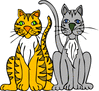 cat cartoon 2 clip art