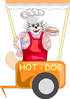 cat hot dog vendor clip art