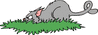 cat hunting in grass clip art