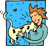 cat lover clip art