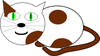 cat w brown spots clip art