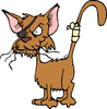 fighting cat clip art