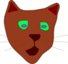 green eyed cat clip art