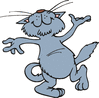 happy dancing cat clip art