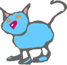 kid cat drawing clip art