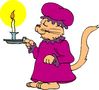 mama cat with candle clip art
