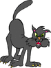 nasty green eyed cat clip art