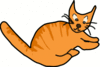 orange brown cat clip art