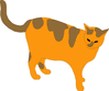 orange tabby clip art