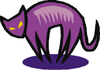 purple cat icon clip art