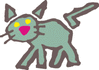 rough cat sketch clip art