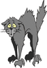 scared cat clip art
