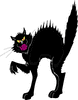 scary black cat clip art
