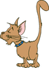smug cat high tail clip art