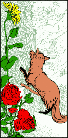 fox by fence bookmark
