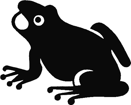 frog frog silhouette