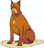 alert watch dog clip art