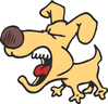 barking dog cartoon clip art