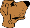 big nosed dog clip art