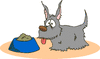 dog before meal clip art