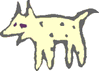 dog cave drawing clip art