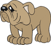 dog with hurt feelings clip art