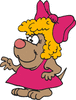female dog dressed up clip art