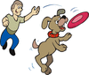 frisbee catching 2 clip art