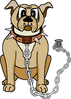 glad he is chained clip art