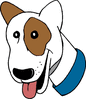 happy buster dog clip art