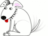 happy dog clip art